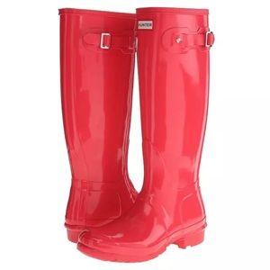 HUNTER Original Tall Gloss Hyperpink Rainboots